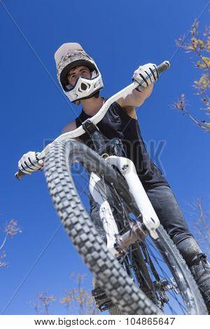 Bmx Biker And His Bike