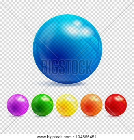 3D Transparency Sphere Vector Illustration