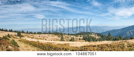 Panorama Of Beautiful Slovakia Mountain Landscape
