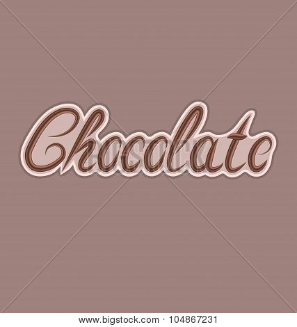Delicious chocolate letters, can be used for your label