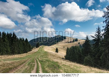 Amazing Mountain Landscape With Sky And Clouds
