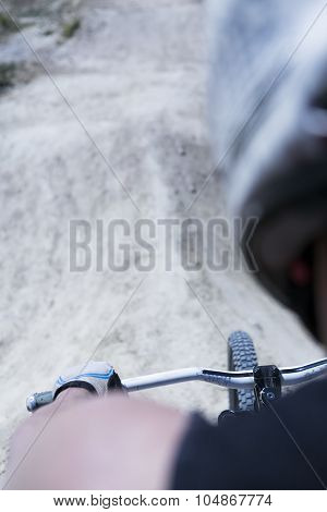 Riding A Bmx Bike
