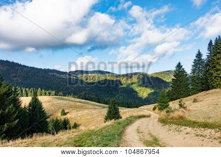 Amazing Mountain Landscape In Early Autumn