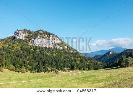 Rural Chalet Under Amazing Limestone Rock Hill