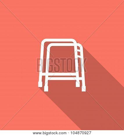 Simple Flat Icon of Walker