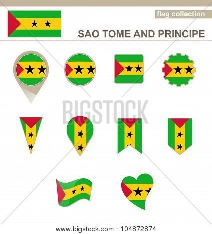 Sao Tome And Principe Flag Collection