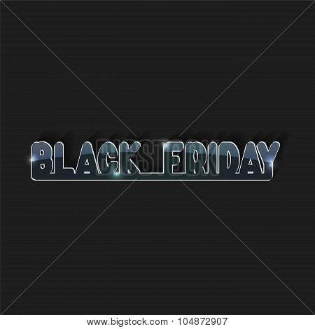 Black Friday.glass Icon. Sale. Stock Vector