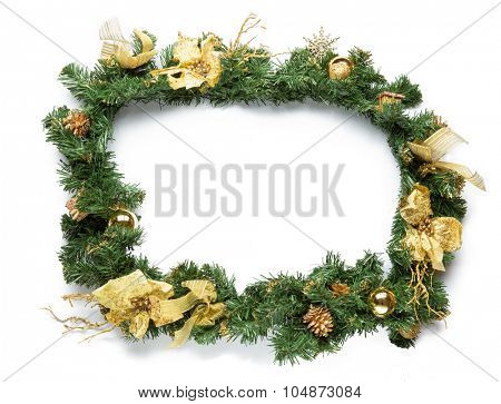 Christmas framework isolated on white background.