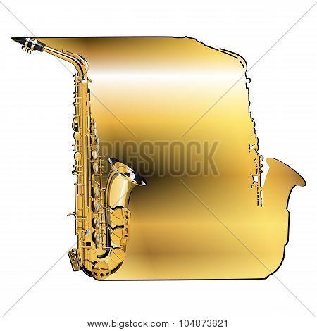 background saxophone