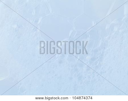 Structure Of White Foam Bubbles Abstract Texture On White Background.