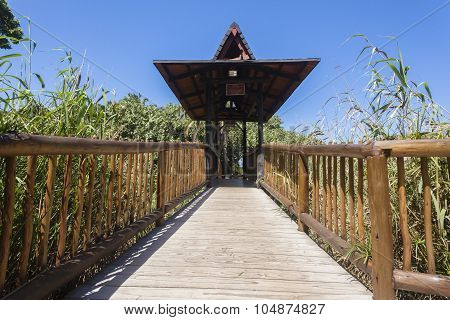 Wood Bridge Pathway