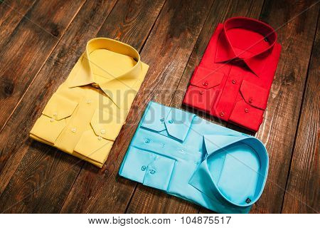 Set  Of Stylish New Bright Colorful Men's Shirts