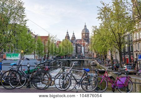 Amsterdam, Netherlands - May 8, 2015: Church Of Saint Nicholas  in Amsterdam