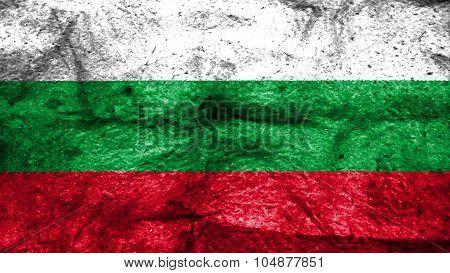 Flag of Bulgaria, Bulgarian flag painted on wool texture