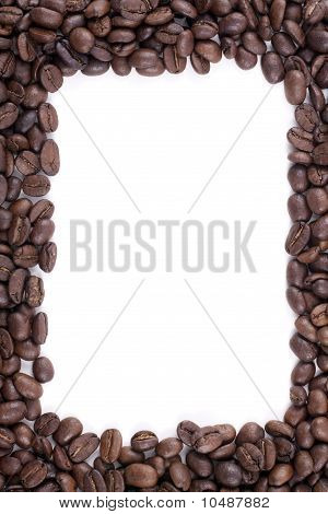 Frame Of Dark Roasted Coffee Beans