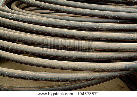 Dusty And Dirty Pvc Pipe