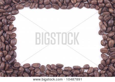 Frame Of Dark Roasted Coffee Beans