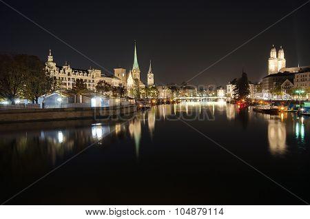 Zürich At Dark Night