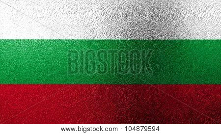 Flag of Bulgaria, Bulgarian flag painted on glass texture