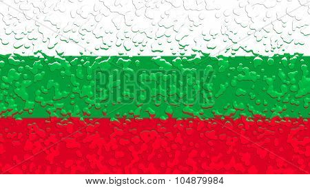 Flag of Bulgaria, Bulgarian flag with water drops