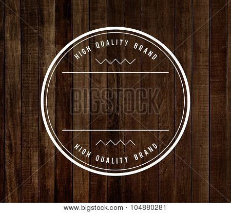 Wood Material Background Badge Stamp Concept