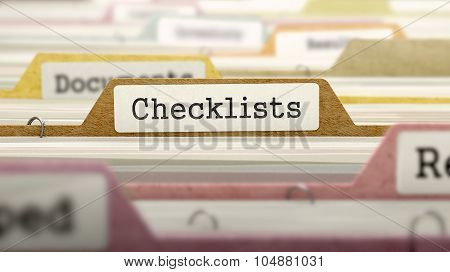 Checklists - Folder Name in Directory.