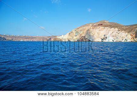 From The Boat Sea And Sky In   Greece Europe
