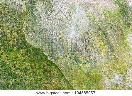 Stone Surface With Green Patina