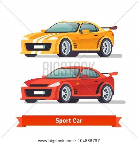 Race sport car. Supercar tuning