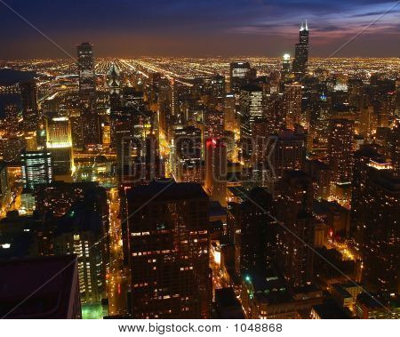 A Aerial View Of The Chicago Night #3