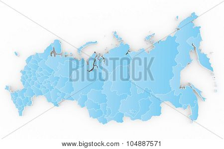 New map of the Russian Federation and Crimea