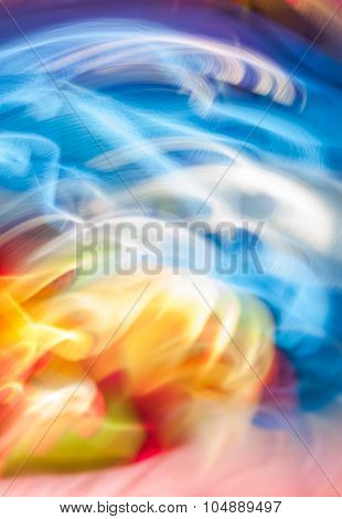 Colorful Abstract Light Vivid Color Blurred Background.
