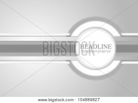 Hi-tech light grey corporate abstract background. Vector design