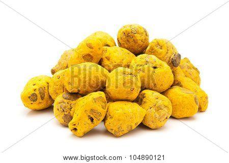 Pile of Organic Round Turmeric.