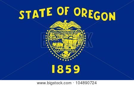 High Quality Vector Illustration of State of Oregon Flag Vector