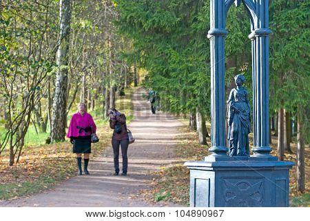 Tsarskoye Selo (Pushkin). Saint-Petersburg. Russia. The fragment of the Gothic Gate