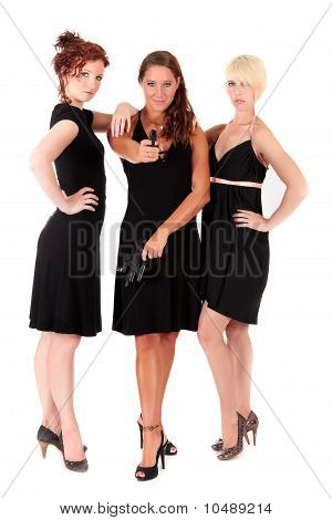 Three Women Black Guns