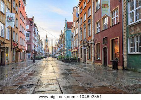 Gdansk, Poland, - September 26, 2015: central Gdansk