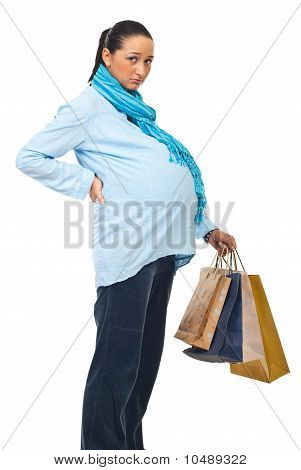 Pregnant At Shopping With Backache