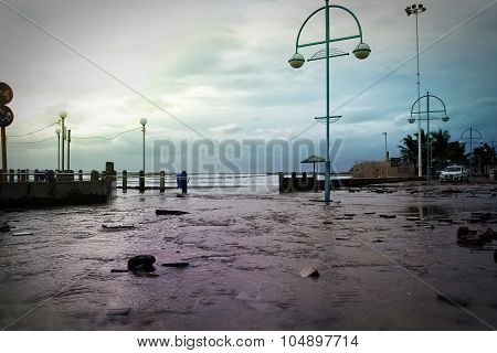 Flooded Beachfront