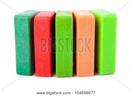 Closeup of hygiene colored soap