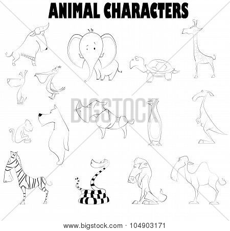 Vector Illustration Of Cute Cartoons Or Children, Coloring And Scrap Book