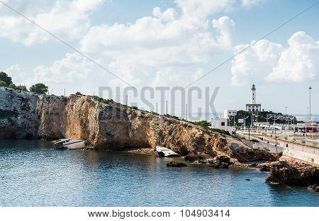 Ibiza Harbor, Balearic Islands. Spain