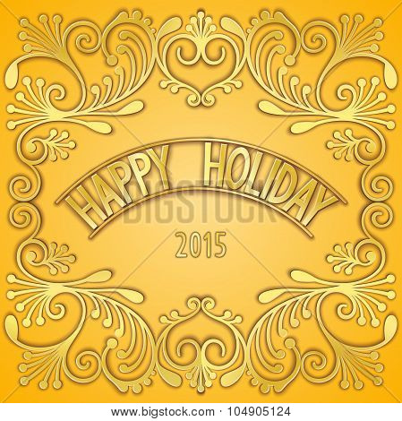 3D signboard - happy holiday