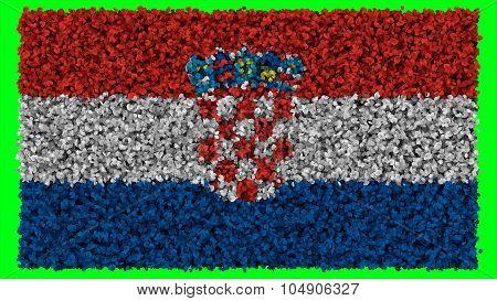 Flag of Croatia, Croatian flag made from leaves