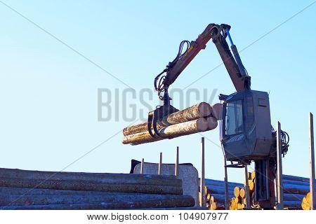 Lumber Crane.