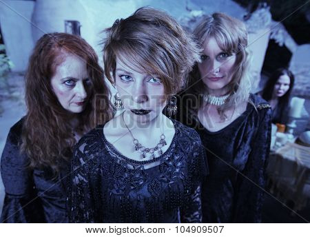 Serious Pagan Women In Black