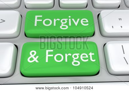 Forgive And Forget Concept