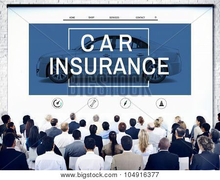Car Insurance Accident Claim Risk Defense Drive Concept