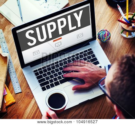 Supply Supplier Production Logistics Industry Concept
